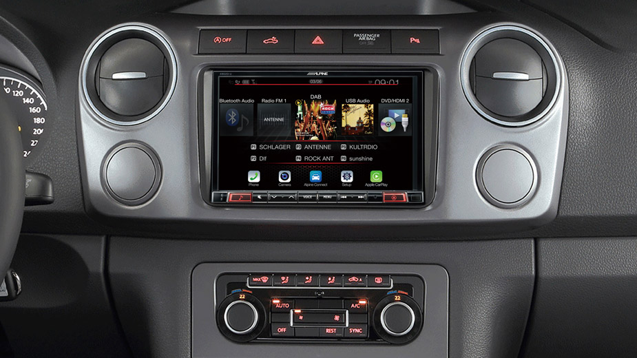 X802D-U Navigation System in VW Amarok with DAB Radio Bluetooth DVD